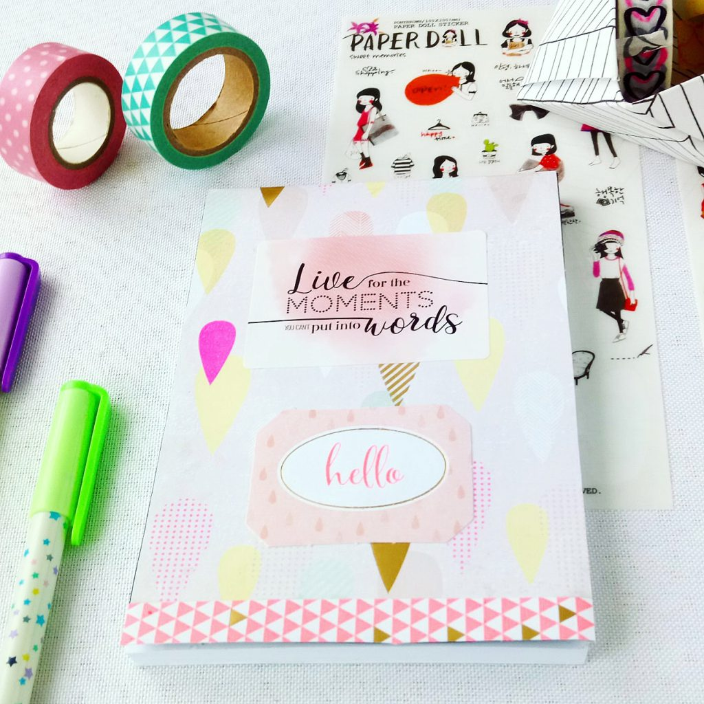 happy life, kolorowy notes, optymistyczny notes, pastelowy notes, notes handmade, simple clean