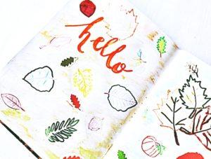 Zeszyt kreatywny z dekoracją jesienną