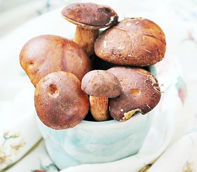 Jesienne przetwory z grzybów papryki i cukini