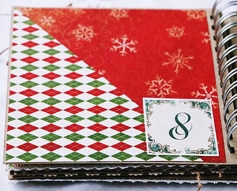 Karta w albumie w kolorach Bożego Narodzenia