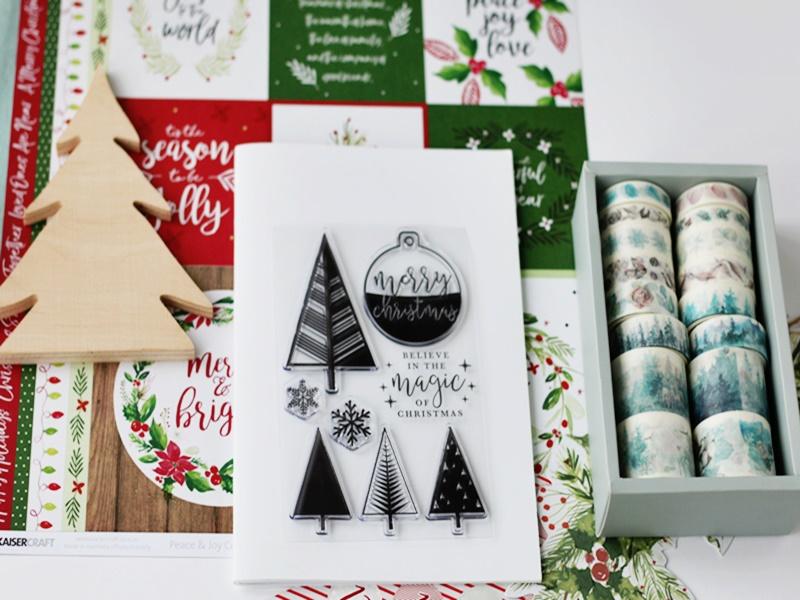 Naklejki, dekoracyjne taśmy do zrobienia grudniownika, albumu na świąteczne zapiski