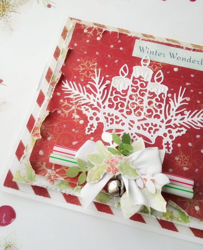 Kartka na Boże Narodzenie wykonana w technice handmade