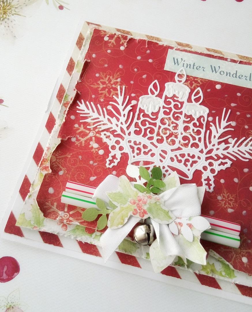 Świąteczna wymiana kartkowa. Kartka na Boże Narodzenie wykonana w technice handmade