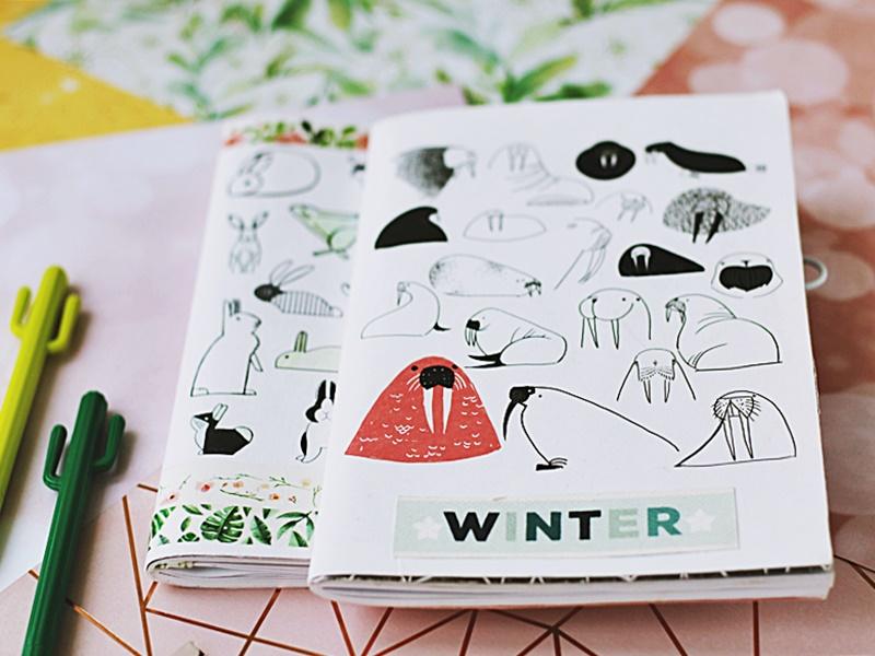 Dekoracyjne zeszyty do prowadzenia w nich kalendarza